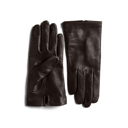 Silk-Lined Leather Gloves Black Commander Gloves