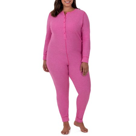 4e6a5ecba02427 Fruit of the Loom - Fit for Me by Fruit of the Loom Women's and Women's  Plus Size Waffle Thermal Underwear Union Suit - Walmart.com