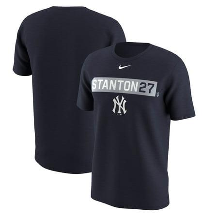 New York Yankees Nickname (Giancarlo Stanton New York Yankees Nike Legend Player Name & Number Nickname Performance T-Shirt -)