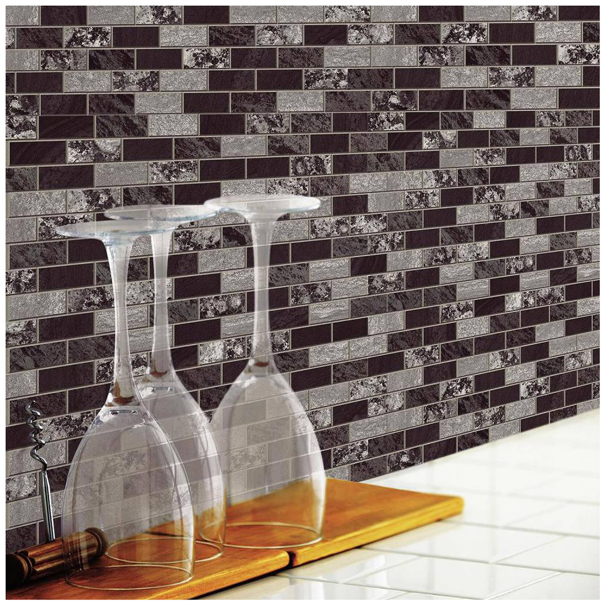 roommates traditional marble sticktiles 4 pack walmart com