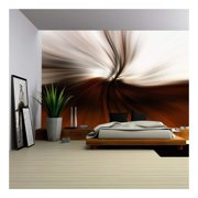 wall26 - a Beautiful Brown/Orange Swirl Abstract Design - Removable Wall Mural | Self-adhesive Large Wallpaper - 66x96 inches