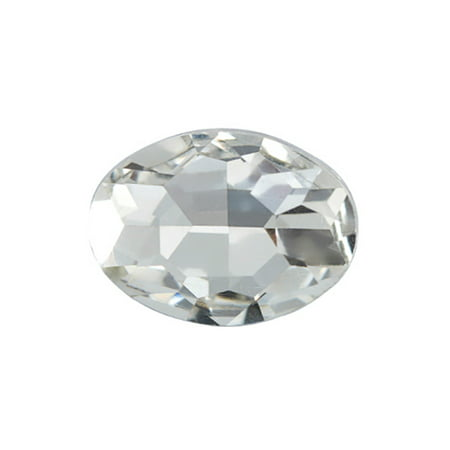 8pcs Embellishment Rhinestone, Clear Oval Foil Back Crystal 10x8mm