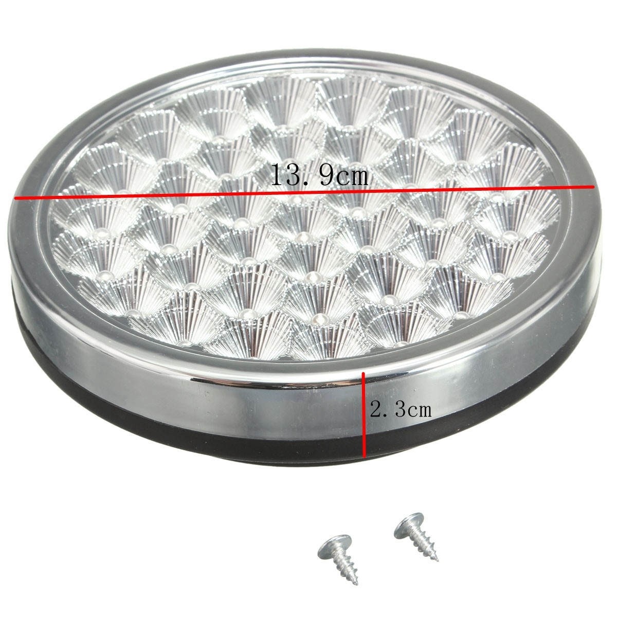 12V Car Round Ceiling Dome Roof Interior 37 LED Light Lamp On//Off switch //GT-691