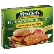 Pinnacle Foods Mrs Pauls Fish Sandwich Fillets 6 ea