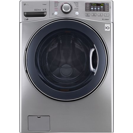 Lg Wm3770hva 4 5 Cu  Ft  Stainless Front Load Steam Washer