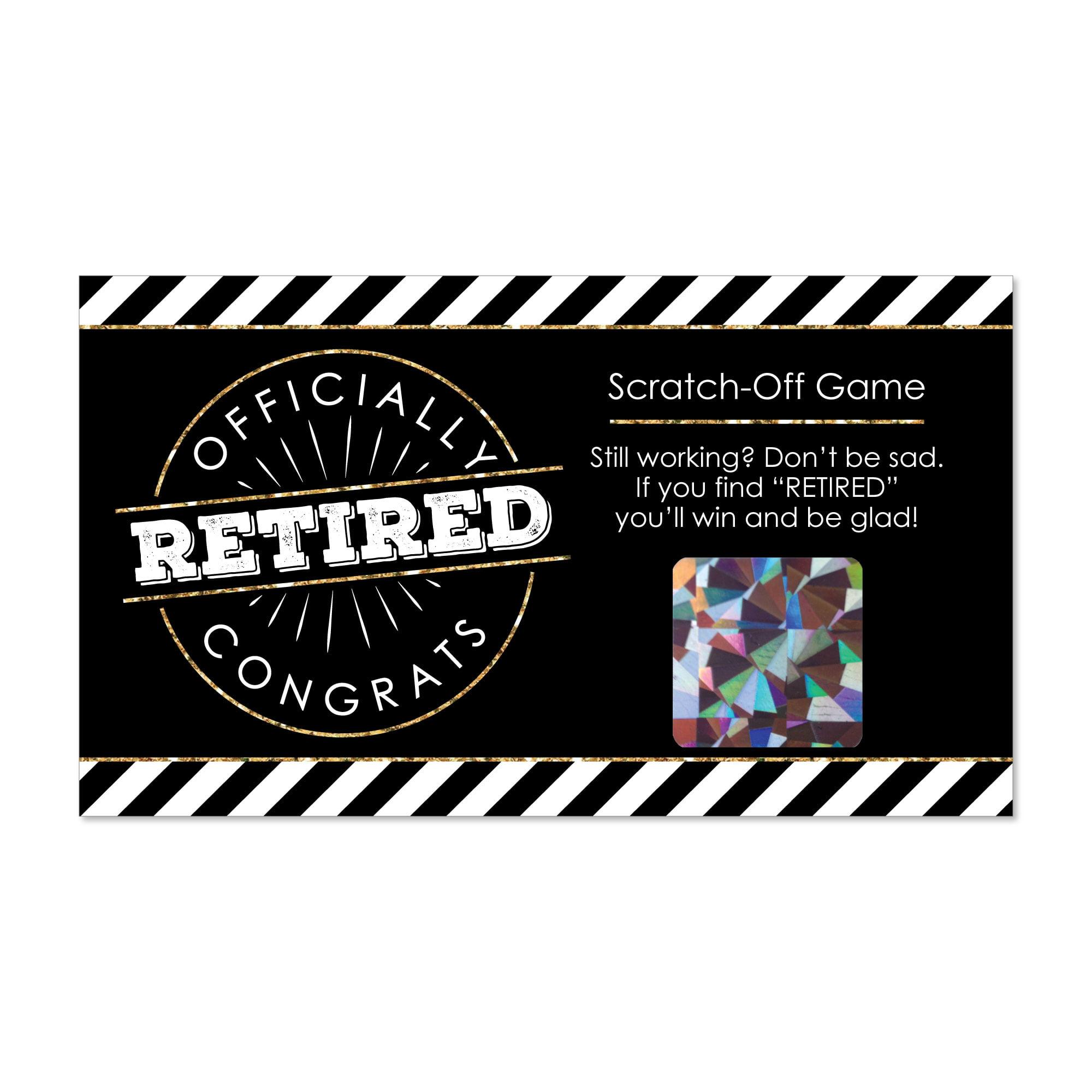 Happy Retirement - Retirement Party Scratch Off Cards - 22 Count