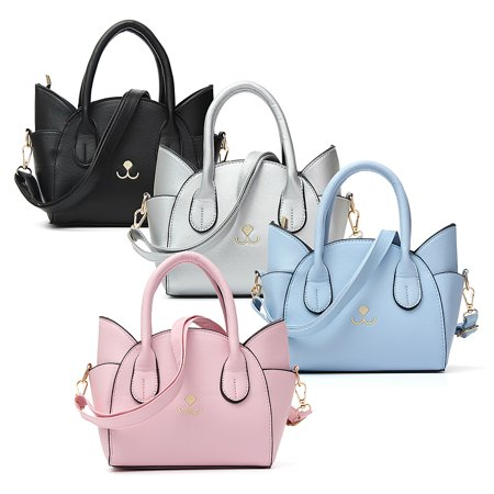 Fashion Women Handbag Wing Cat Ear Bag Leather Crossbody Messenger
