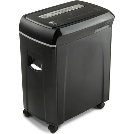 Aurora High-Security 10-Sheet Micro-Cut Paper, CD and Credit Card Shredder with Pullout Basket,