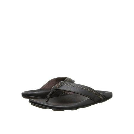 80de6377b OluKai - OluKai Hiapo Men s Premium Leather Sandal 10101-4040 - Walmart.com