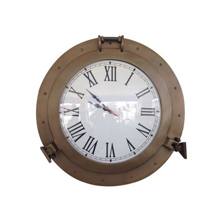 Antique Brass Decorative Ship Porthole Clock 20
