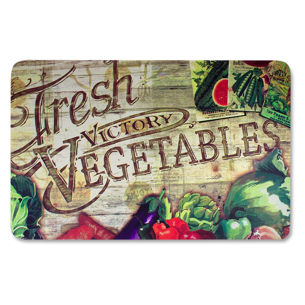 "anti fatigue kitchen floor mat, fresh vegetables (18""x30"