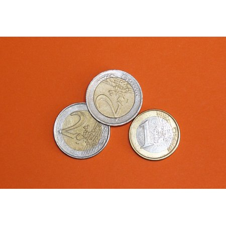(Canvas Print Money Coins Euro Coins Save Cash Euro Finance Stretched Canvas 10 x 14)