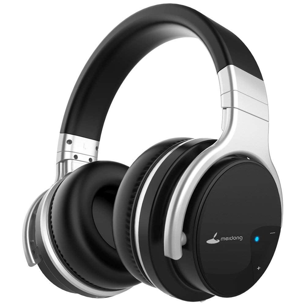 Meidong E7b Active Noise Cancelling Headphones Bluetooth Wireless Headphones With Microphone Over Ear 30h Playtime Deep Bass Hi Fi Stereo Headset Newer Model Walmart Com Walmart Com