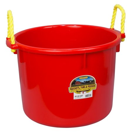 Miller Manufacturing Muck Boot Tub Multi-Purpose Bedding Poly Rope Handles Red 40Quart for $<!---->