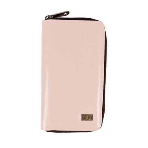 BMC Womens Long Leather Zipper Cellphone Holder Wallet Organizer - BISQUE PINK