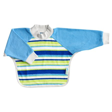 Kiddologic bibit-all Long Sleeved, Full Coverage, Pullover, Waterproof, Baby Bib Pullover Velour Toddler Bib