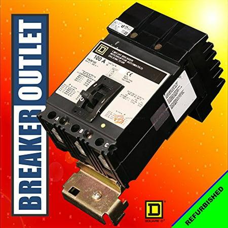Square D FA36100 3 Pole 100 Amp 600v 25kA I-Line Circuit Breaker FA
