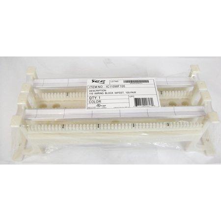 ICC 110 WIRING BLOCK W/ FT- 100-PAIR- CAT 5e 110 Type Wiring Block