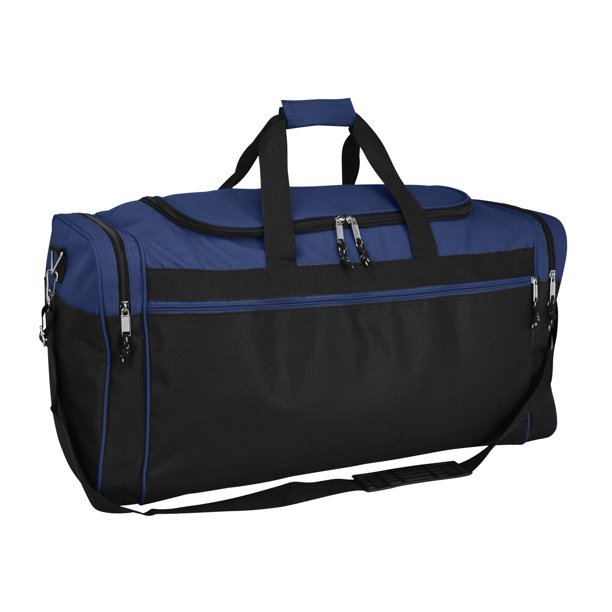 "DALIX 25"" Extra Large Vacation Travel Duffle Bag in Navy and Black"