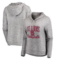 St. Louis Cardinals Let Loose by RNL Women's Cozy Collection Steadfast Pullover Hoodie - Heathered Gray - M