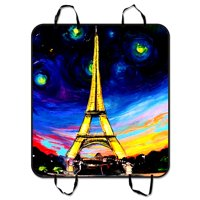 ZKGK Paris Eiffel Tower Dog Car Seat Cover Dog Car Seat Cushion Waterproof Hammock Seat Protector Cargo Mat for Cars SUVs and Trucks 54x60 inches