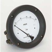 MIDWEST INSTRUMENT 142-AC-00-OO-25P Pressure Gauge,0 to 25 psi