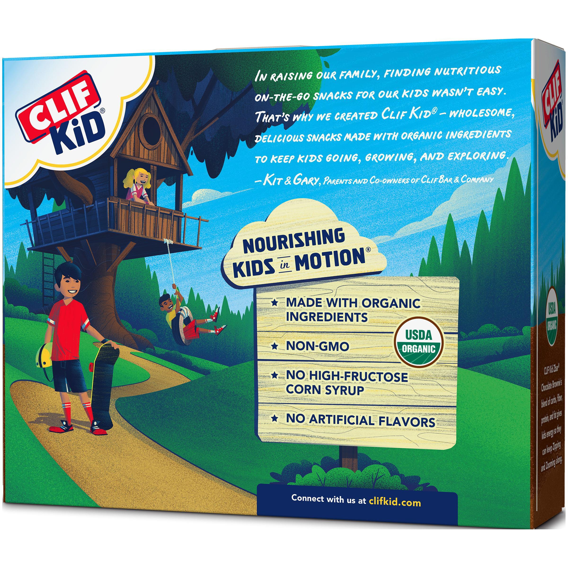 (2 Pack) CLIF Kid® Organic ZBar Chocolate Brownie Baked Whole Grain Energy Snack 6-1.27 oz. Bars