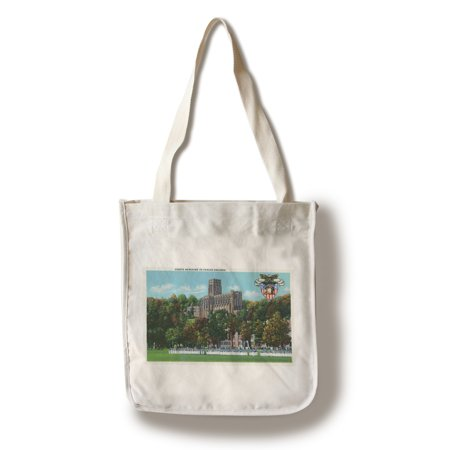 West Point, New York - Cadets Marching to Parade Grounds Scene (100% Cotton Tote Bag - Reusable) - Parade New York Halloween 2017