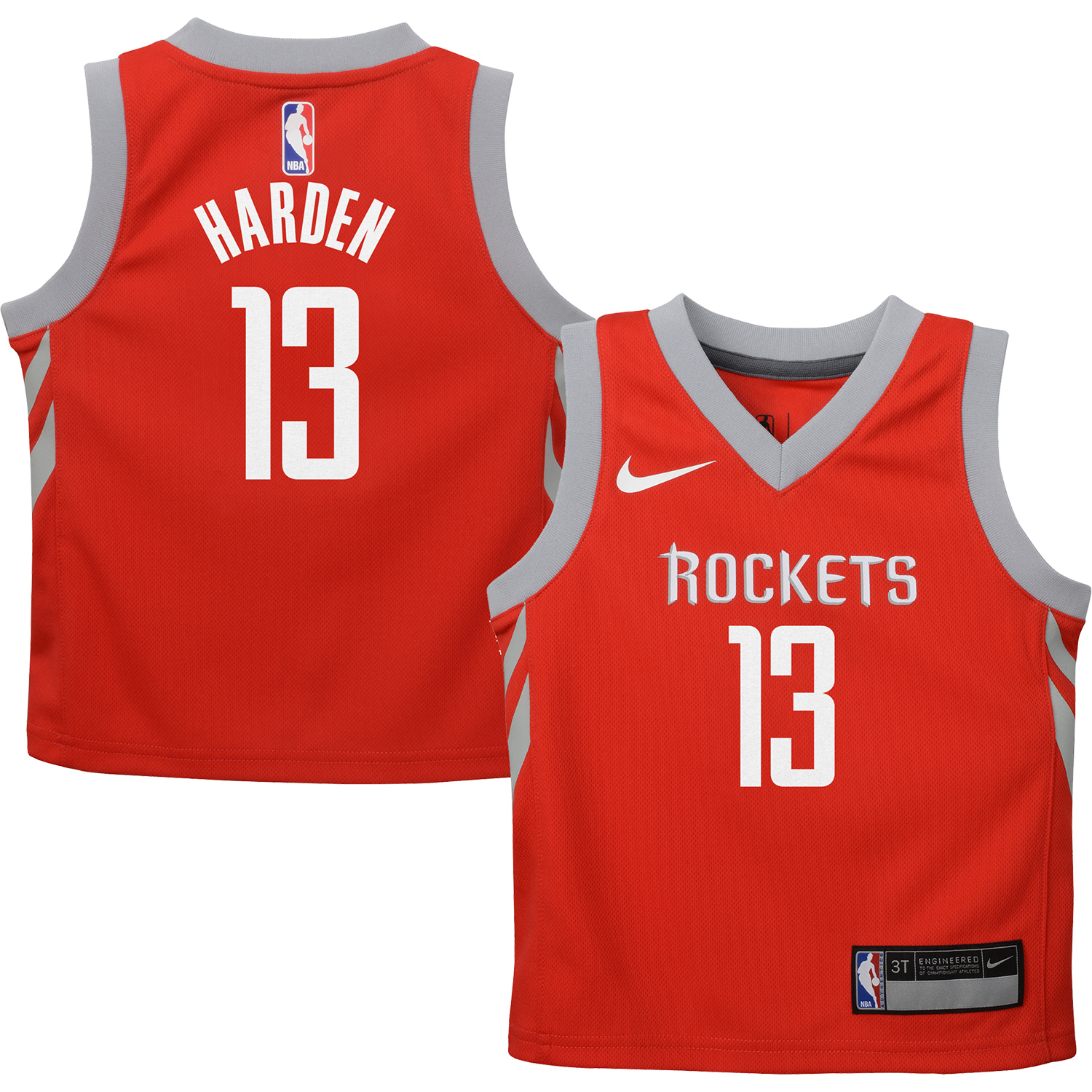 James Harden Houston Rockets Nike Toddler Replica Jersey Red - Icon Edition