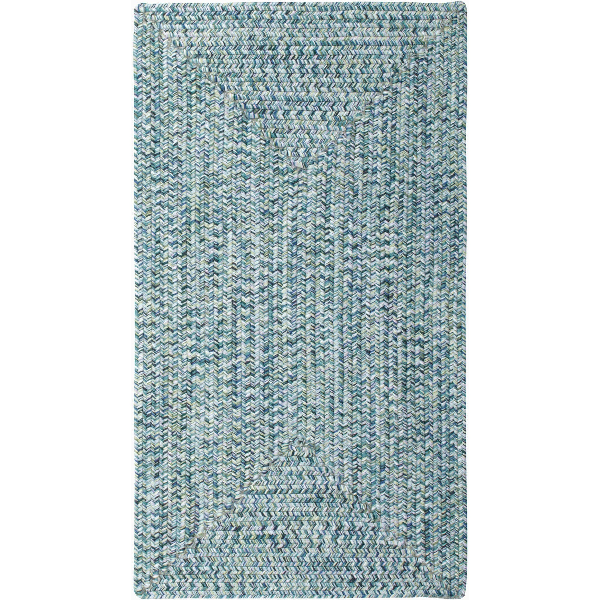 Sea Pottery Concentric Braided Area Rug