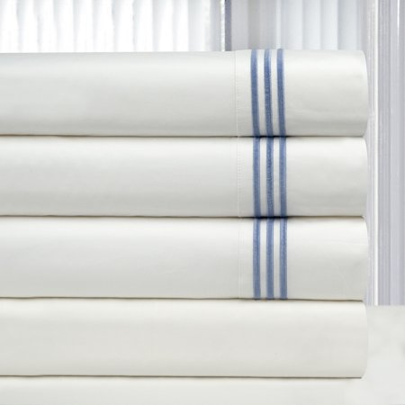 PointeHaven Living Celeste Home 300 TC Egyptian Cotton 3 Lines Embroidery Sheet Set