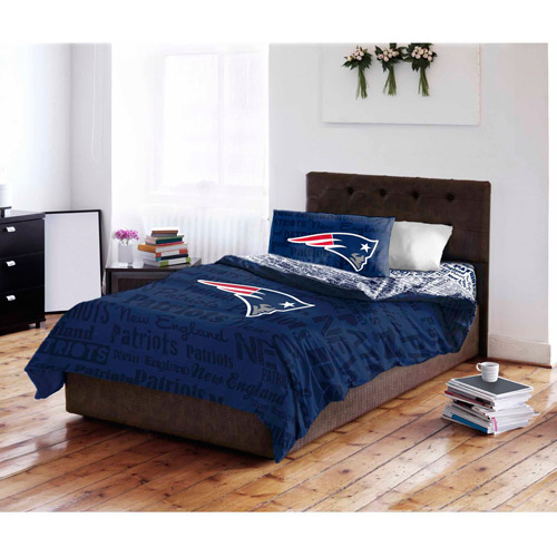 NFL New England Patriots Bed in a Bag Complete Bedding Set