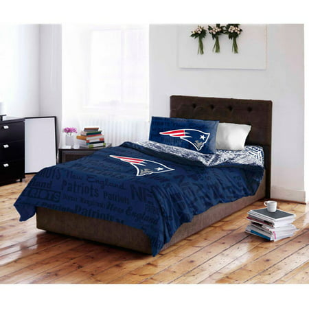 NFL New England Patriots Bed in a Bag Complete Bedding Set by