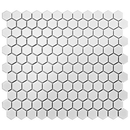 somertile fdxmhmw retro hex porcelain floor and wall tile, 10.25