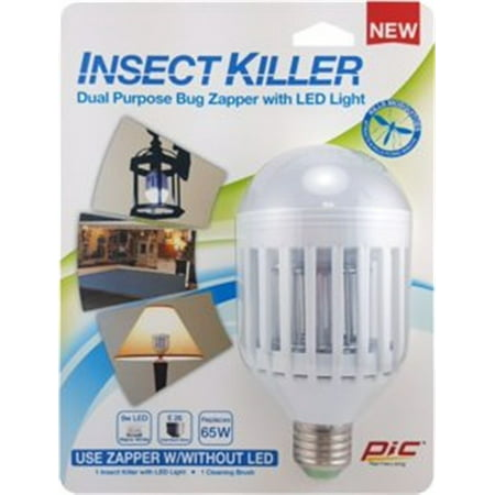 Ikc Insect Killer & Led Light Bulb, Pic Corporation, EACH, EA, Dual purpose (Dual Bulb)