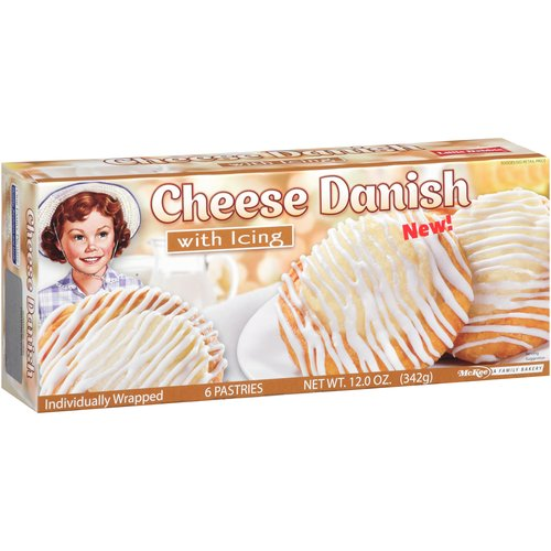 Little Debbie Snacks Cheese Danish with Icing, 6 count