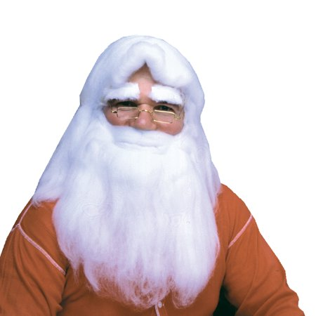 Santa Claus Wig And Beard Set (Santa Wig Beard Cotton W Hdr)