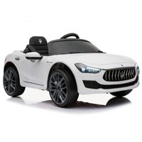 Kidplay Licensed Maserati Ghibli Kids Ride On Car 12V Battery Powered - White