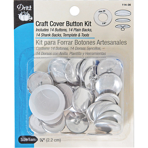 Craft Cover Button Kits, Size 36, 14/pkg