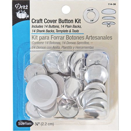 dritz craft cover button kit size 36 multi colored