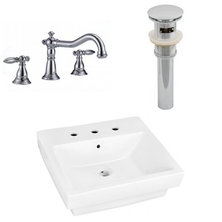 19 in. Modern Bath Vessel Sink Set ()