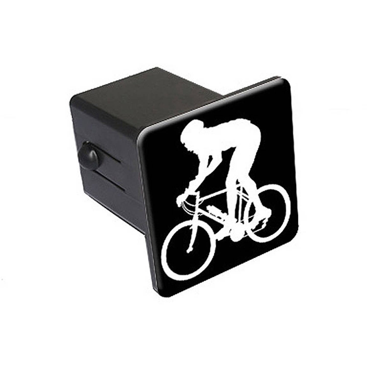 Christmas Bicycle Bike and Cat in Basket Tow Trailer Hitch Cover Plug Insert