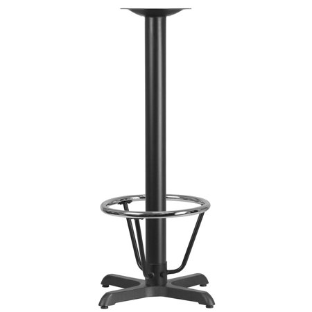 22'' x 22'' Restaurant Table X-Base with 3'' Dia. Bar Height Column and Foot