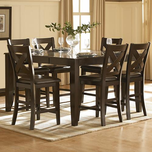 iNSPIRE Q Acton Merlot Counter ight Dining Table by  Classic