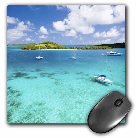 3dRose St. Vincent and the Grenadines, View from sailboat-CA35 DSR0001 - Daniel Schreiber, Mouse Pad, 8 by 8 inches (Daniels Mouse)