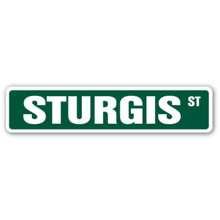 Handheld Rally Sign (STURGIS Street Sign motorcycle rally biker hog dude   Indoor/Outdoor   24