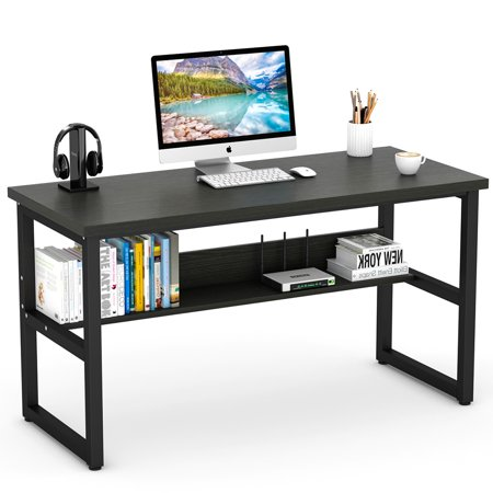 free shipping 43c13 037a9 Tribesigns Computer Desk with Bookshelf, 55