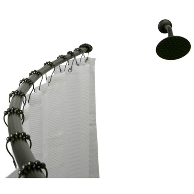 Kingston Brass CC3175 Curved Shower Rod - Oil Rubbed Bronze