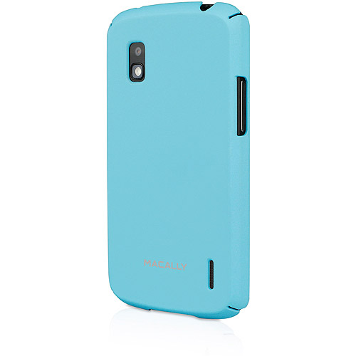 Macally Protective Rubber Coated Hard Shell Case for Nexus 4