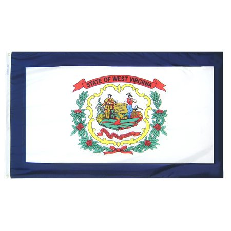 West Virginia State Flag 3x5 ft. Nylon Official State Design Specifications.